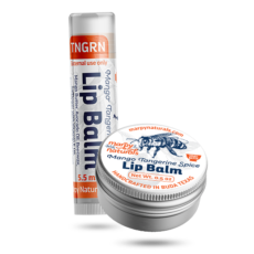 Mango Tangerine Spice lip balm tube and tin image